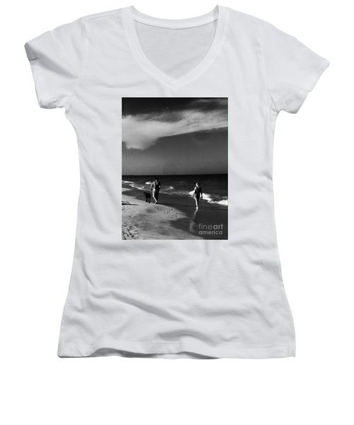Dog Walk Women's V-Neck T-Shirt (Junior Cut)
