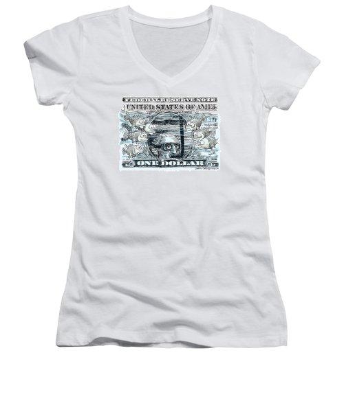 Dollar Submerged Women's V-Neck