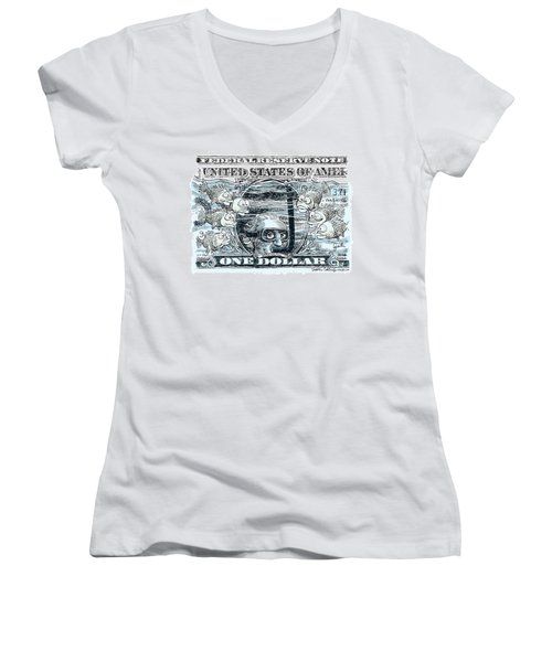 Dollar Submerged Women's V-Neck