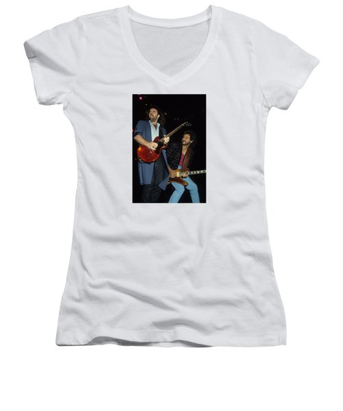 Don Barnes And Jeff Carlisi Of 38 Special Women's V-Neck