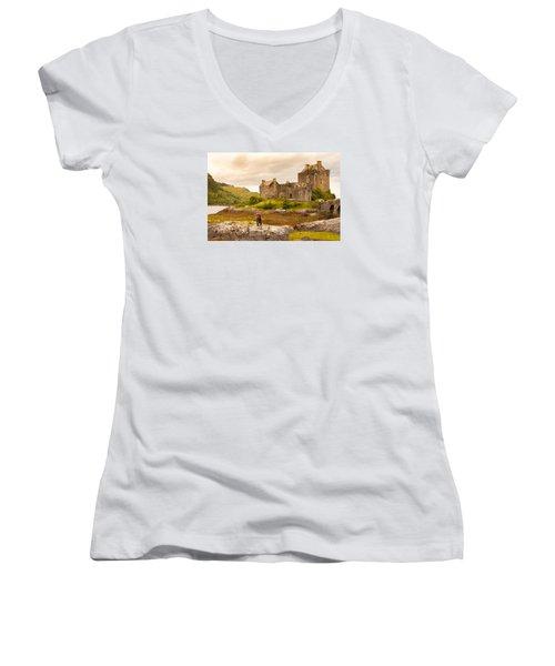Donan Castle Women's V-Neck T-Shirt