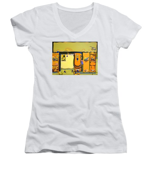 Double Door Power Play Women's V-Neck