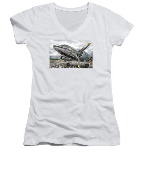 Douglas C-47 Skytrain Women's V-Neck