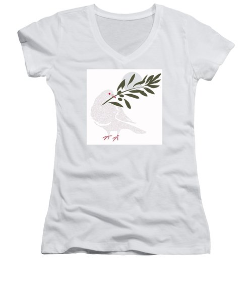Dove Of Peace Women's V-Neck