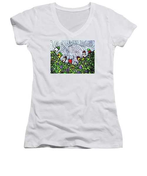 Down In The Valley Women's V-Neck (Athletic Fit)