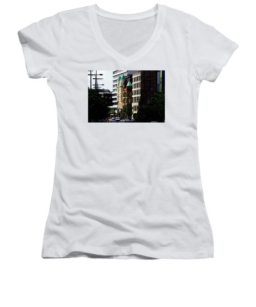 Downtown Belfast Women's V-Neck (Athletic Fit)