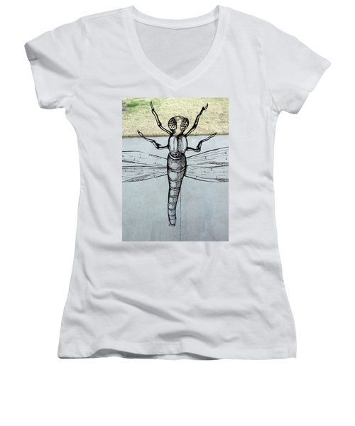 Dragons Fly Women's V-Neck (Athletic Fit)