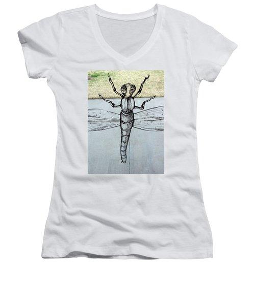 Dragons Fly Women's V-Neck T-Shirt