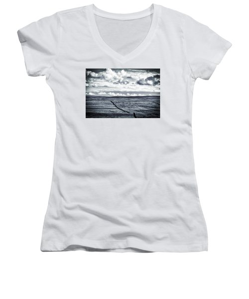 Dramatic Landscape  Women's V-Neck T-Shirt (Junior Cut) by RKAB Works