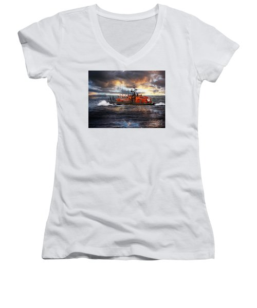 Dramatic Once More Unto The Breach  Women's V-Neck
