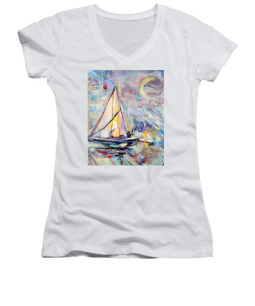 Dream Boat Women's V-Neck T-Shirt