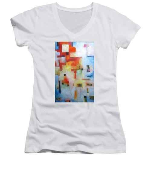 Dreamscape Clouds Women's V-Neck T-Shirt