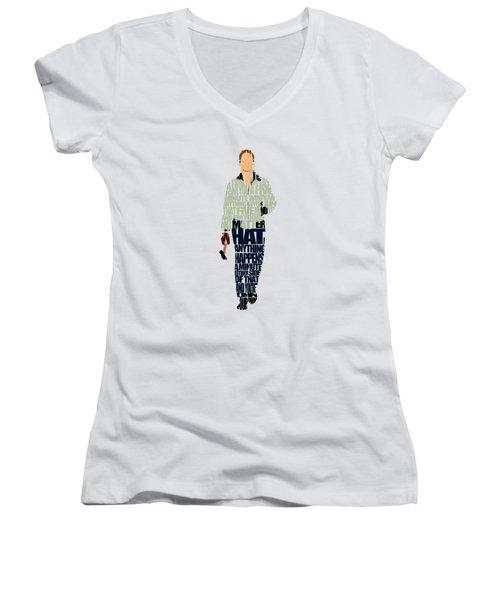 Driver - Ryan Gosling Women's V-Neck T-Shirt (Junior Cut) by Ayse Deniz
