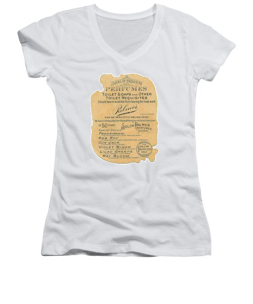 Women's V-Neck (Athletic Fit) featuring the photograph Druggists by ReInVintaged