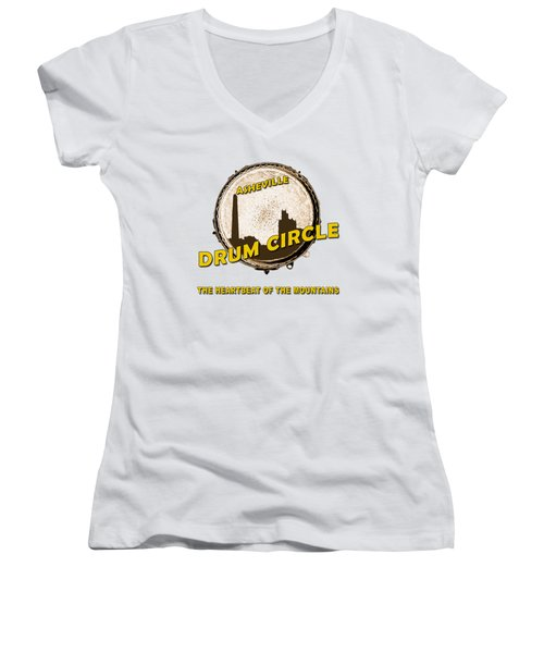 Drum Circle Logo Women's V-Neck (Athletic Fit)
