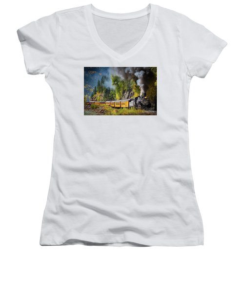 Durango-silverton Narrow Gauge Railroad Women's V-Neck