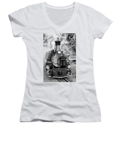 Durango Silverton Train Engine Women's V-Neck