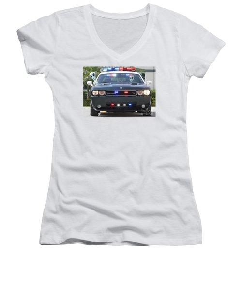 E T Cops Women's V-Neck (Athletic Fit)