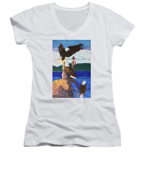 Eagles Women's V-Neck T-Shirt