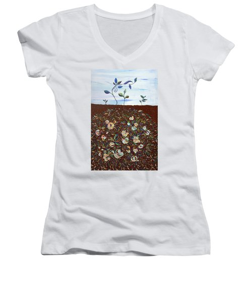 Early Cotton  Women's V-Neck T-Shirt