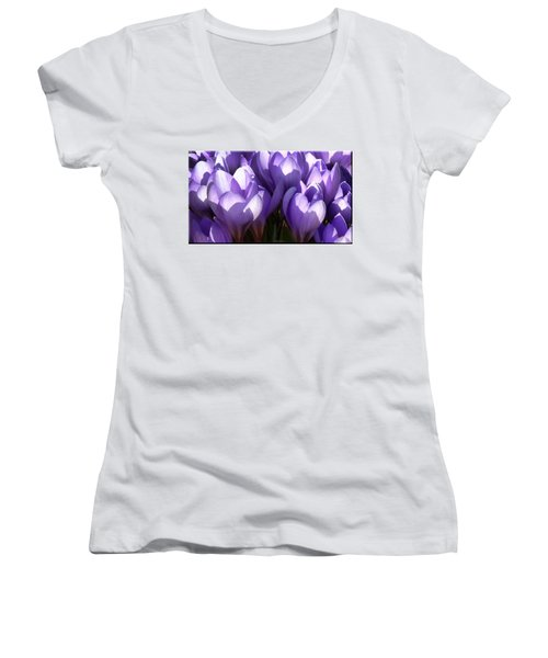 Early Crocus Women's V-Neck T-Shirt (Junior Cut)