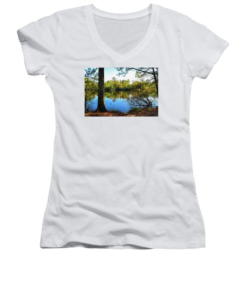 Early Fall Reflections Women's V-Neck