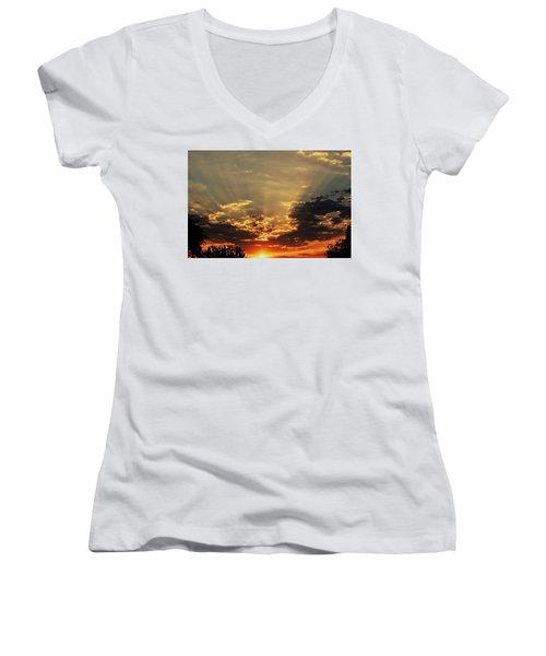 Early Morning Adrenaline Rush Women's V-Neck T-Shirt
