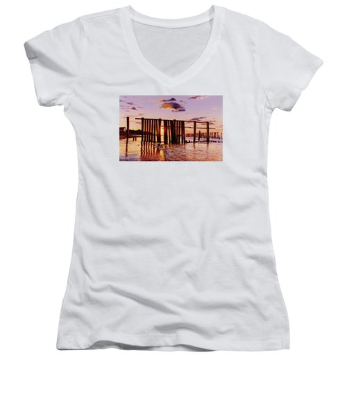 Early Morning Contrasts Women's V-Neck