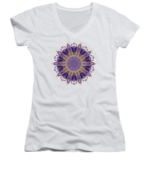 Early Spring Mandala Women's V-Neck (Athletic Fit)