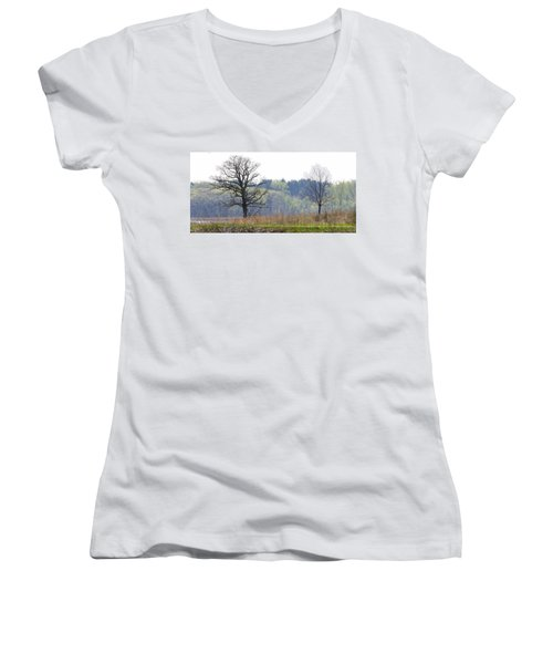 Early Spring Silhouettes  Women's V-Neck