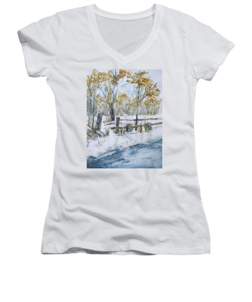 Early Spring Snow Women's V-Neck (Athletic Fit)