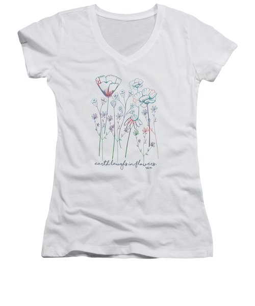 Earth Laughs In Flowers Women's V-Neck