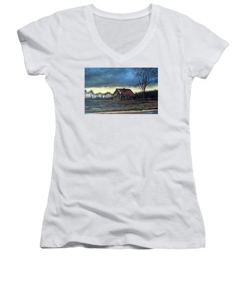East Of Eden Women's V-Neck T-Shirt (Junior Cut)