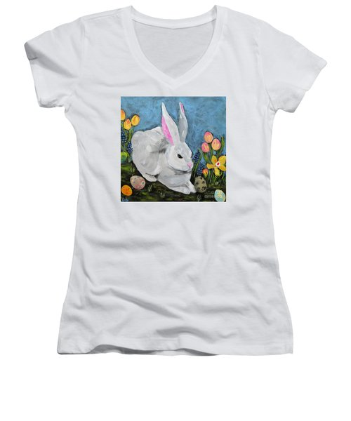 Easter Bunny  Women's V-Neck T-Shirt