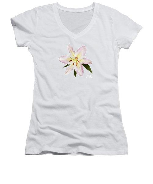 Easter Lilly 1 Women's V-Neck T-Shirt (Junior Cut)