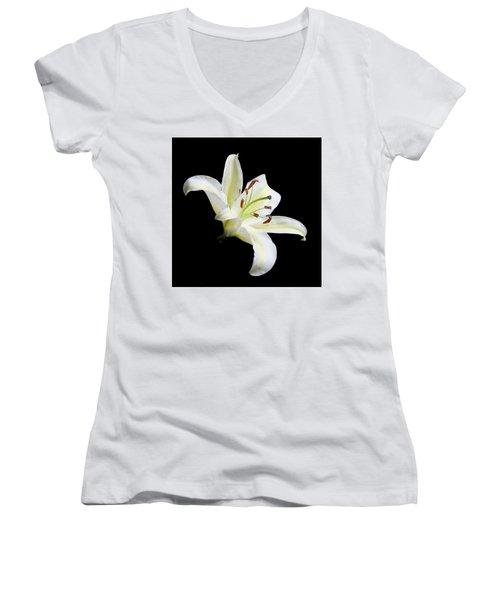 Easter Lily 1 Women's V-Neck