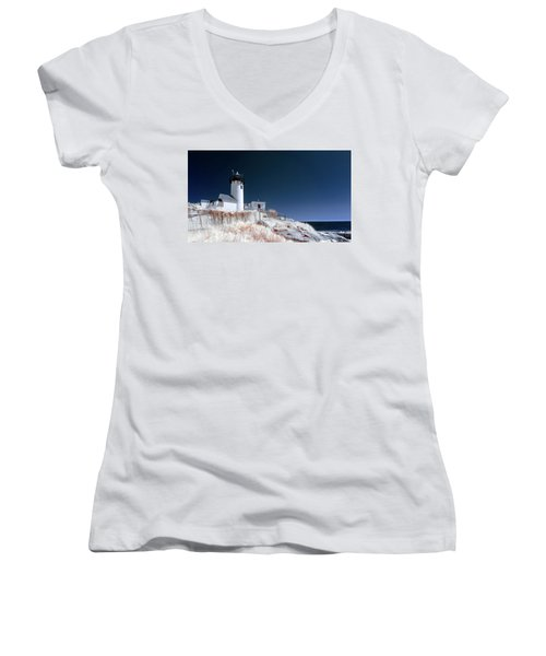 Women's V-Neck featuring the photograph Eastern Point Infrared by Brian Hale
