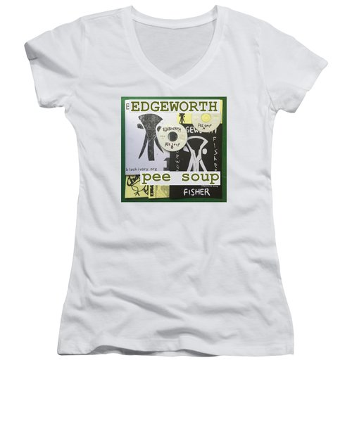 Edgeworth Pee Soup Album Cover Design Women's V-Neck