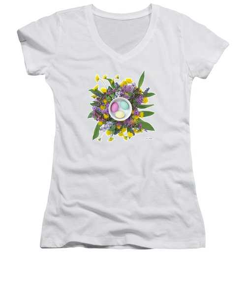 Eggs In A Bowl Women's V-Neck
