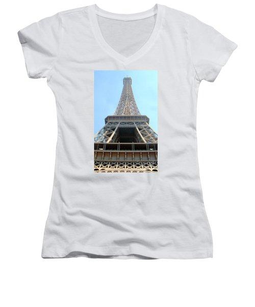 Eiffil Tower Paris France  Women's V-Neck (Athletic Fit)