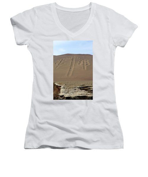 Women's V-Neck T-Shirt (Junior Cut) featuring the photograph El Candelabro by Aidan Moran