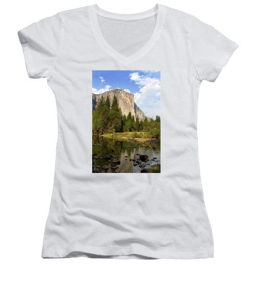 El Capitan Yosemite National Park California Women's V-Neck