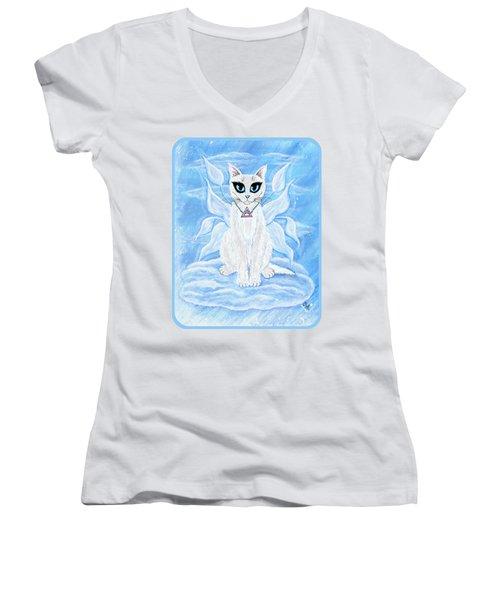 Elemental Air Fairy Cat Women's V-Neck