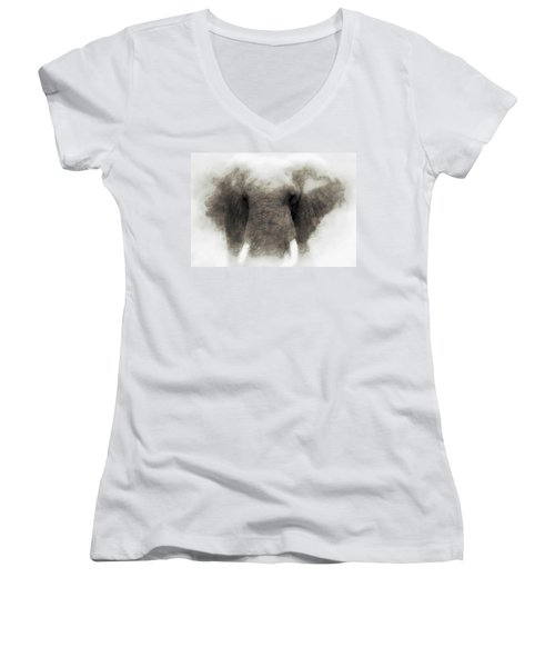 Elephant Portrait Women's V-Neck T-Shirt