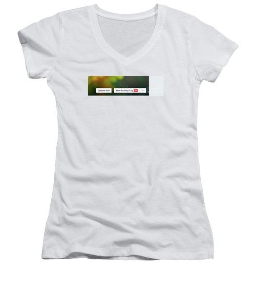 Elipses Women's V-Neck T-Shirt (Junior Cut) by Lois Bryan