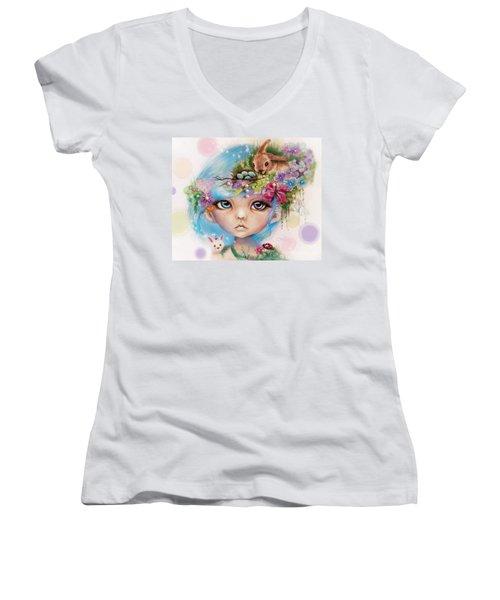 Eliza - Easter Elf - Munhkinz Character Women's V-Neck T-Shirt