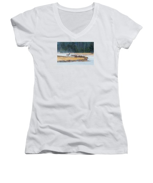 Elk Crossing Women's V-Neck T-Shirt