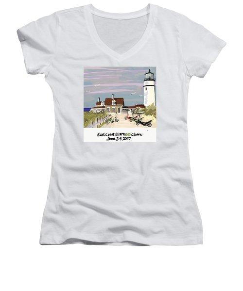 Elliptigo Art Women's V-Neck T-Shirt