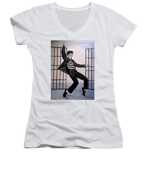 Elvis Presley Jailhouse Rock Women's V-Neck
