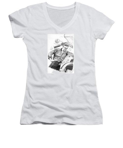 Elvis Presley Women's V-Neck T-Shirt